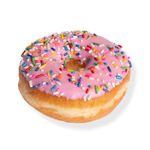 An image of our Pink Rainbow Ring donut - Pinkbox Doughnuts®