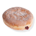 An image of our Raspberry Squeeze donut - Pinkbox Doughnuts®