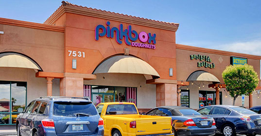 Pinkbox Doughnuts® 7531 W. Lake Mead Blvd. Las Vegas, NV89128