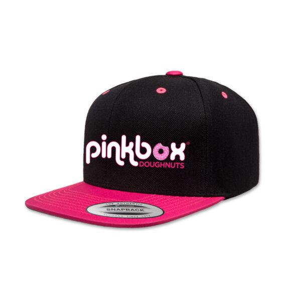 Neon pink & black baseball cap - Pinkbox Doughnuts® Apparel Las Vegas
