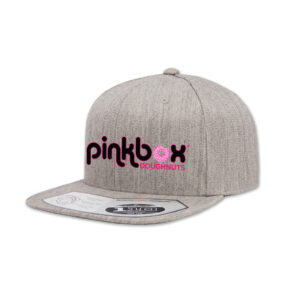 Heather grey baseball cap - Pinkbox Doughnuts® Apparel Las Vegas