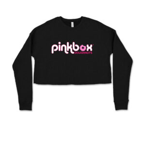 Women's cropped sweatshirt - Pinkbox Doughnuts® Apparel Las Vegas