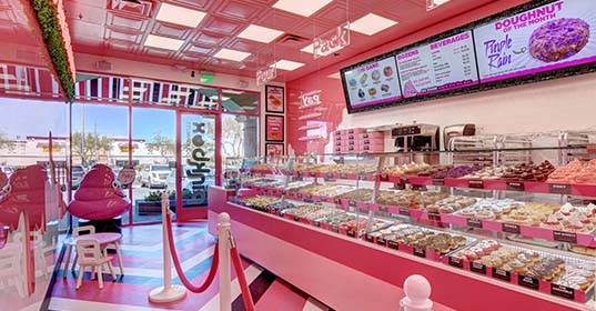 Pinkbox Doughnuts® South Summerlin location at 9435 W. Tropicana Ave. Las Vegas, NV