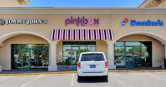 Pinkbox Doughnuts® South Summerlin location at 9435 W. Tropicana Ave. Las Vegas, NV
